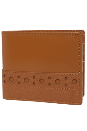 VAN HEUSEN Mens Leather 1 Fold Wallet - 200274328