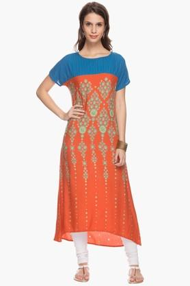 IMARA Womens Printed Long Kurta - 201430340