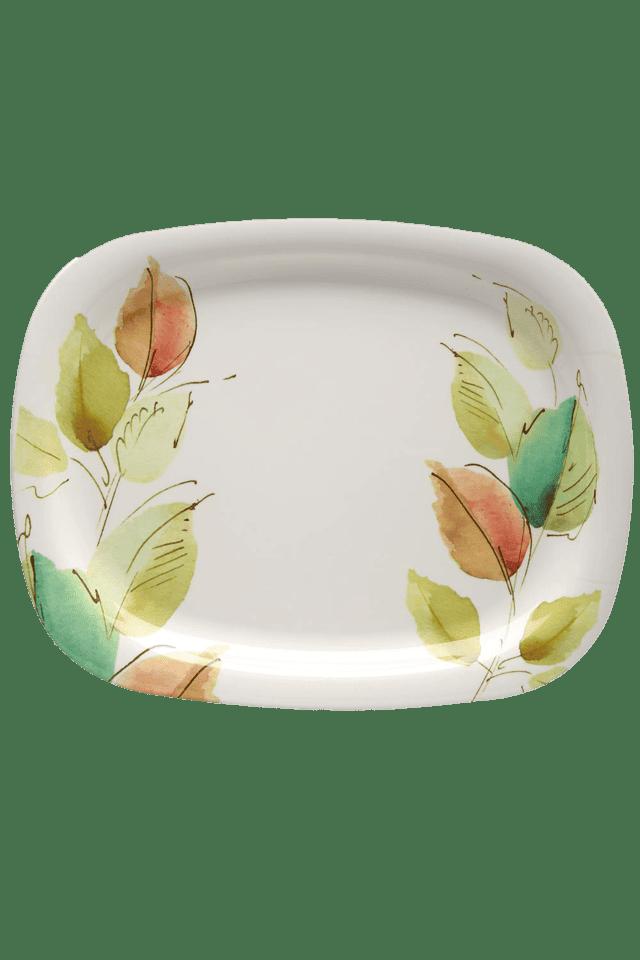 Square Serving Platter - Bay Leaves