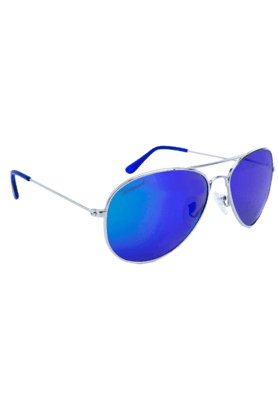 KNOCKAROUND Mile High Unisex Sunglasses Silver/POLARIZED Moonshine-MHGL1010 (Use Code FB20 To Get 20% Off On Purchase Of Rs.1800)