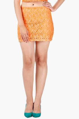 MISS CHASE Womens Lace Short Skirt