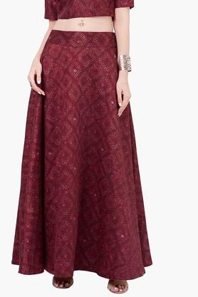 INDYAWomens Printed Maxi Skirt