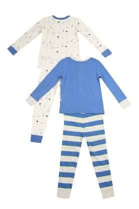 Boys Round Neck Printed Tee and Pants Set - Pack of 2