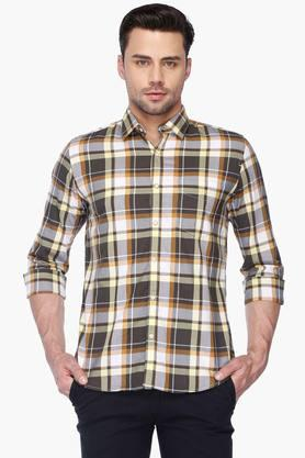 Van Heusen Sport Formal Shirts (Men's) - Mens Regular Collar Check Shirt