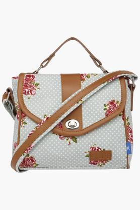 LIFEWomens Metallic Closure Sling Bag