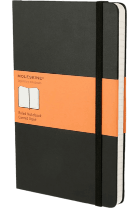 WILLIAM PENN Moleskine Notebook Black Ruled Hard Cover Large