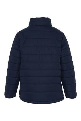 Boys Zip Through Neck Solid Reversible Jacket
