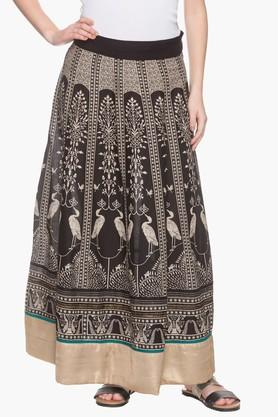 W Womens Printed Long Skirt