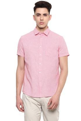 Mens Straight Fit Collar Check Shirt