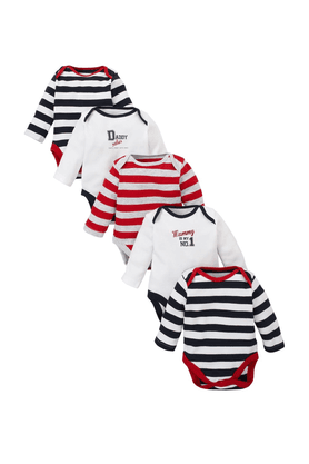 MOTHERCARE Baby Mummy And Daddy Bodysuits - Pack Of 5