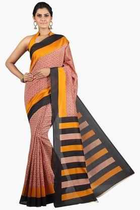 JASHN Women Tussar Silk Printed Saree  ... - 201860708