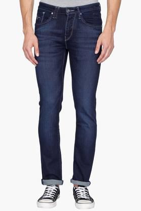 FLYING MACHINE Mens 5 Pocket Skinny Fit Mild Wash Jeans (Jackson Fit)