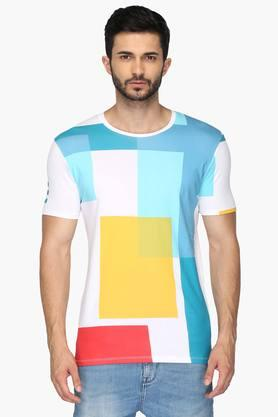UNITED COLORS OF BENETTONMens Round Neck Printed T-Shirt - 201942052