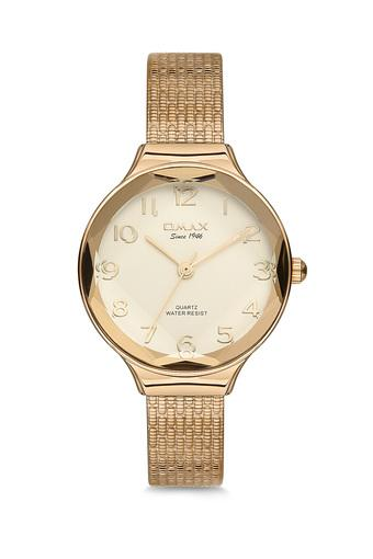 Womens Omax Masterpiece Beige Dial Stainless Steel Analogue Watch - FA19-FMB008Q001