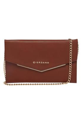 Womens Snap Closure Sling Wallet