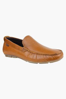 RED TAPE Mens Leather Slip On Casual Loafers