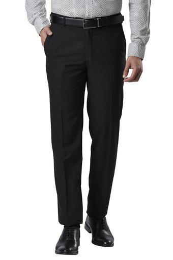 RAYMOND -  BlackFormal Trousers - Main