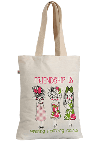 Buy SWAYAM Friendship Series Canvas Shopping Bag  b569c60fef50a