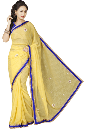 DEMARCA Women Georgette Designer Saree - 200133942