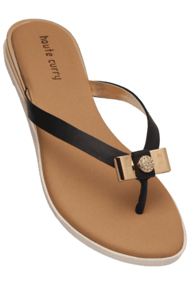 HAUTE CURRY Womens Casual Slipon Flat Chappal (Use Code FB15 To Get 15% Off On Purchase Of Rs.1200) - 200466872