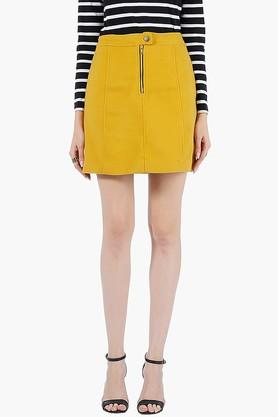 FABALLEY Womens Solid Short Skirt - 201993908