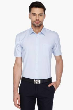 Indian Terrian Formal Shirts (Men's) - Mens Half Sleeves Formal Stripe Shirt
