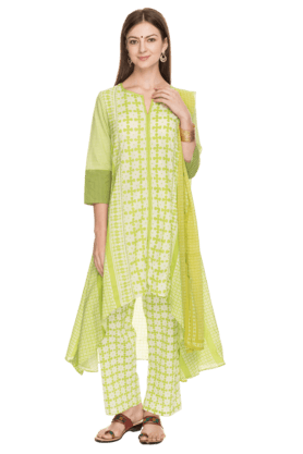 BIBA Womens Cotton Printed Salwar Suit