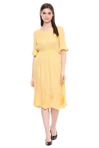 FRATINI WOMAN -  Yellow Dresses - Main