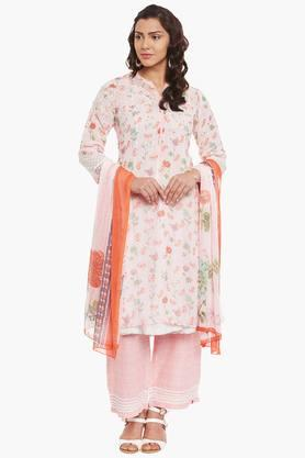 BIBA Womens Poly Cotton Straight Suit Set - 202179819