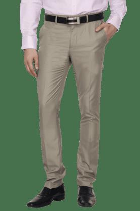 VDOTMens Flat Front Slim Fit Solid Formal Trouser - 200850047