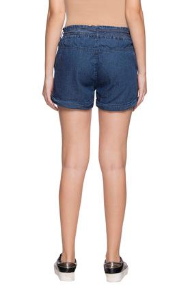 Womens 2 Pocket Washed Shorts