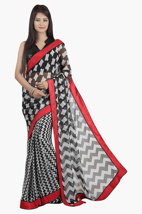 JASHN Womens Printed Saree - 201502686