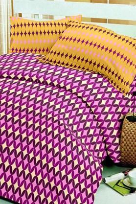 BLISSPink Pink Cotton Double Bedsheet Set (Bedsheet Set (King)