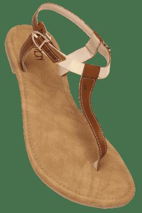 LEMON & PEPPERWomens Daily Wear Ankle Buckle Closure  Flat Sandal