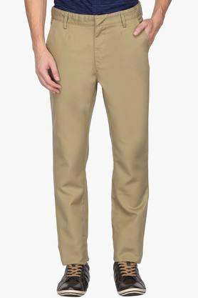 ALLEN SOLLY Mens Regular Fit 4 Pocket Solid Chinos - 202182978
