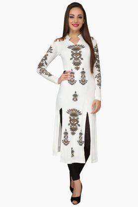 IRA SOLEILWomens Slim Fit Printed Kurta (Buy Any Ira Soleil Product And Get A Necklace Free) - 201787556