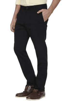 U.S. POLO ASSN. Mens Slim Fit Solid Formal Trouser