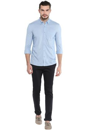 STOP - Sky Blue Formal Shirts - 3
