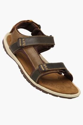 WOODLAND Mens Velcro Closure Casual Sandals - 201754067_9115
