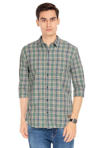 WRANGLER -  OliveCasual Shirts - Main