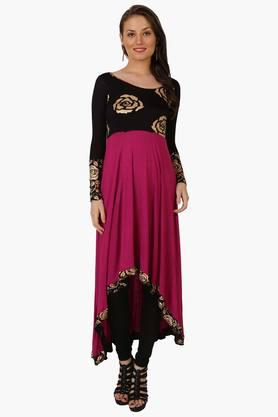 IRA SOLEILWomens Printed Anarkali Kurta (Buy Any Ira Soleil Product And Get A Charms Bracelet Free) - 201787633