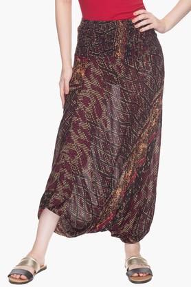 Womens Printed Dhoti Pants