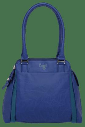 BAGGITWomens Leather 3 Compartments Zipper Closure Shoulder Bag