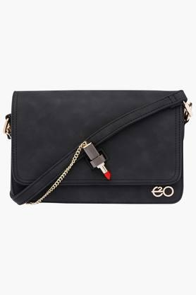E2O Womens Metallic Lock Closure Slingbag