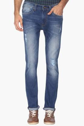 PEPEMens Slim Fit Heavy Wash Distressed Jeans (Vapour Fit)