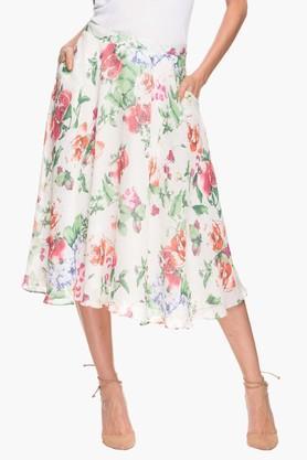 FRATINI WOMANWomens Floral Print Flared Skirt