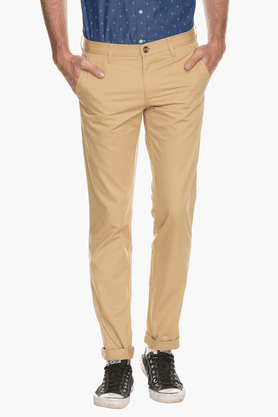 LOUIS PHILIPPE SPORTS Mens Slim Fit Solid Chinos - 200573199