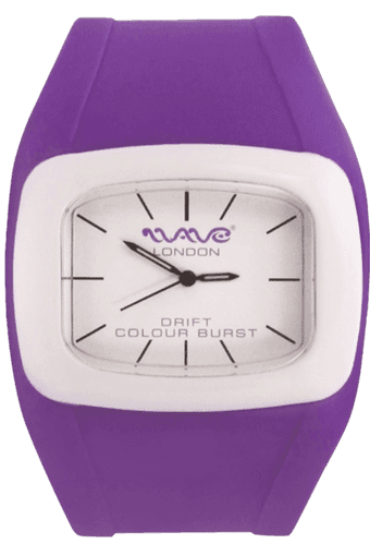 Drift Colour Burst Purple White Unisex Watch
