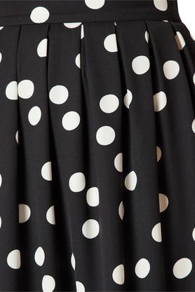 Womens Polka Dot Pleated Skirt