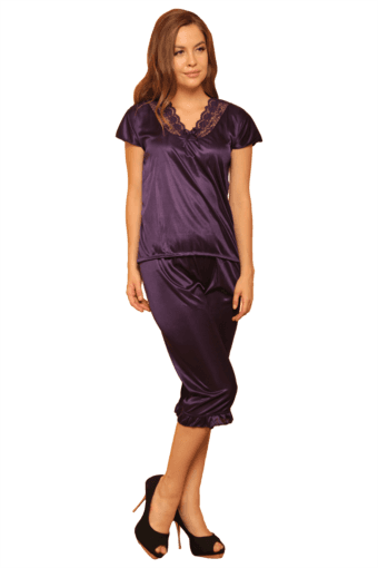 4 Pcs Satin Nightwear